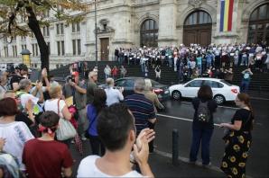 """PROTEST al magistraţilor, pe scările Curţii de Apel: """"Justiţia este în pericol!"""" / Foto: Inquam Photos / Octav Ganea"""