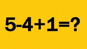 problema de matematica:5-4+1=?