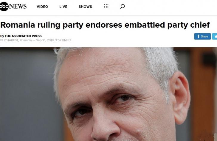 Votul pro-Dragnea în presa internațională
