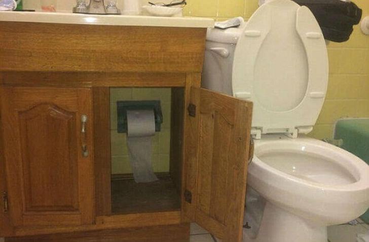 <p>O toaletă construită cu imaginație</p>