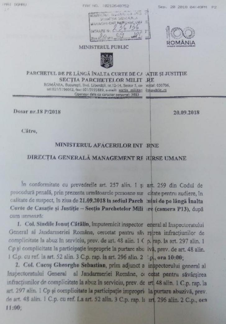 """Șefii Jandarmeriei și un secretar MAI, sub învinuire în dosarul """"10 august"""". Acuzații grave"""