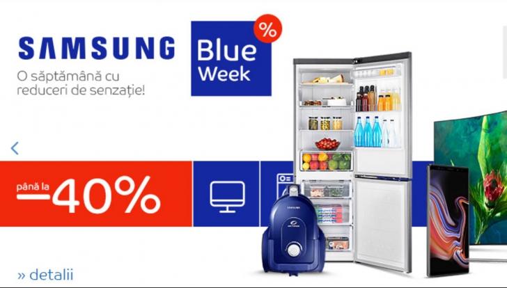 eMAG Samsung Blue Week - Cat costa toate modelele de telefoane mobile