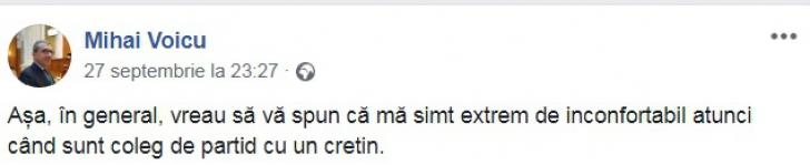 """Doi liberali se jignesc pe Facebook, din cauza Referendumului: """"Un cretin"""" versus """"Eşti un şobolan!"""""""