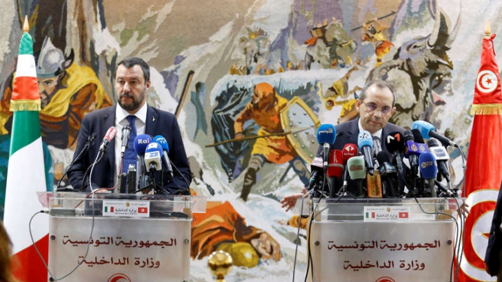 Matteo Salvini vrea ca migranţii să fie trimişi înapoi de unde au venit. Declaraţii la Tunis