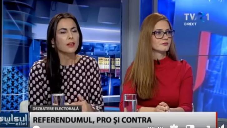"""Senatoare USR, jignită de înlocuitoarea lui Dăncilă în PE, în direct: """"E greu să înveţi carte"""""""