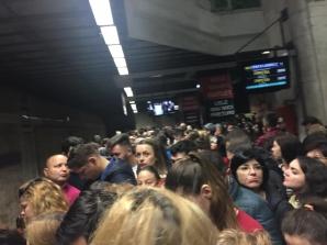 Aglomerație la metrou