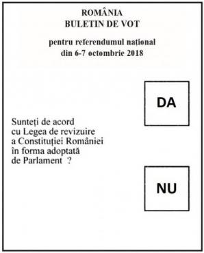 Buletin de vot referendum familie 2018