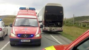 Cluj: Incendiu la un autocar cu 29 de persoane