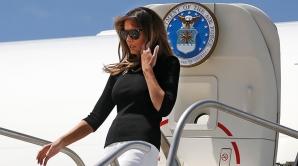 Avionul cu care călătorea Melania Trump a aterizat de urgenţă