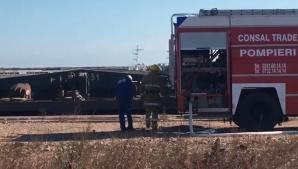 Panică în Portul Constanţa. O navă a izbucnit în flăcări: 10 persoane, evacuate