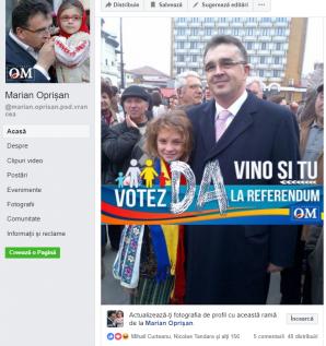 Lider PSD, campanie pro-referendum folosind fotografii cu minori