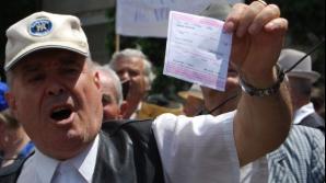 Pensioanarii la protest