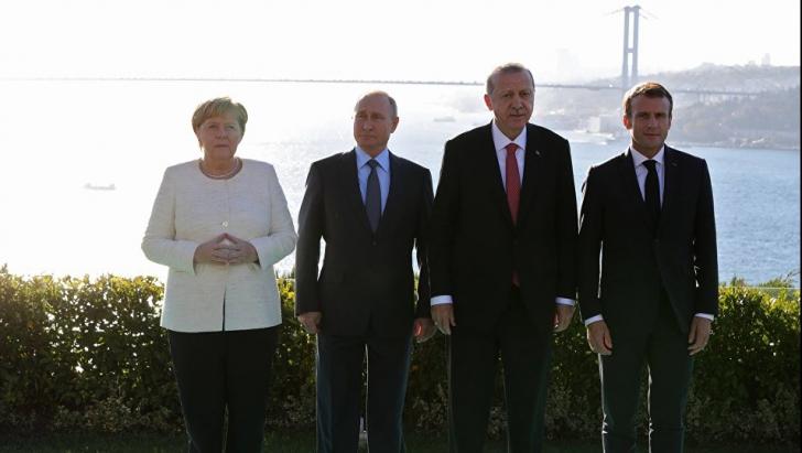 Merkel, Macron, Putin și Erdogan cer o nouă constituție pentru Siria