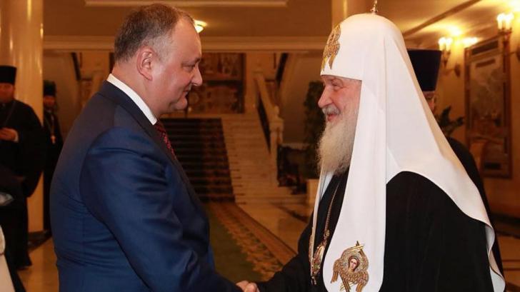 Igor Dodon susține că R. Moldova e alături Rusia în marea schismă ortodoxă