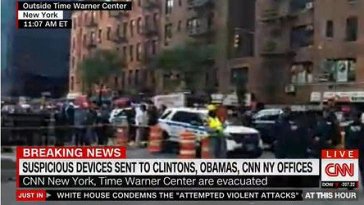 Alerte cu bombe la Obama, Clinton și sediul CNN