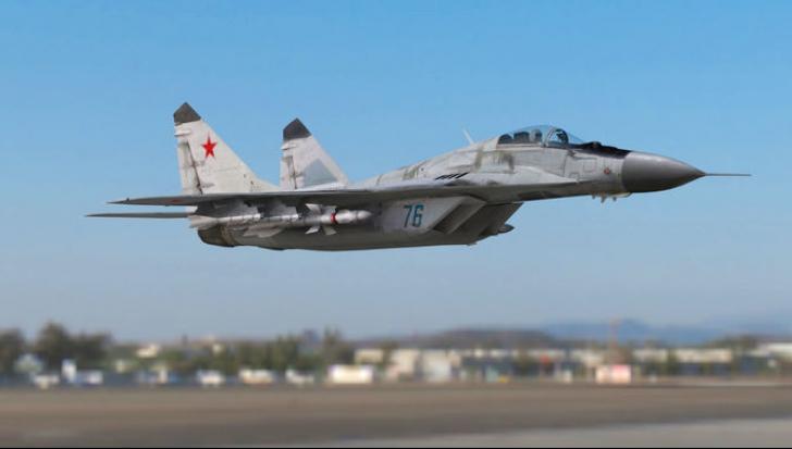 Avion militar prăbușit