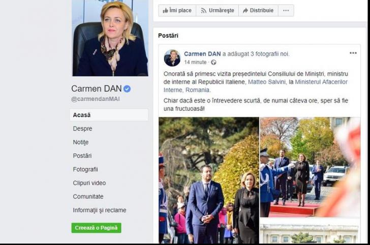 Carmen Dan, postare revizuită