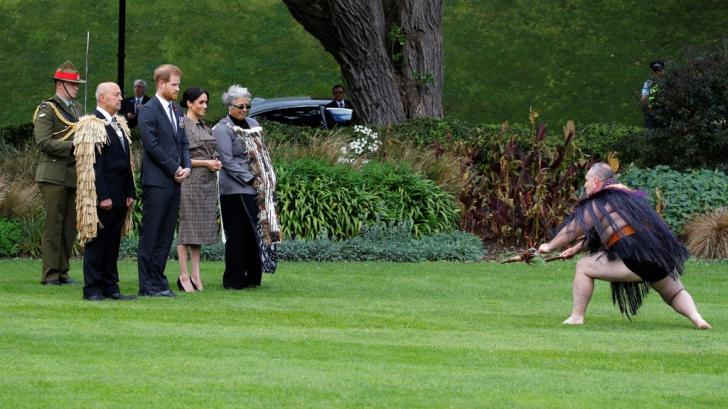 Ceremonie tradiţională maori pentru prințul Harry și Meghan