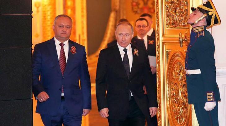 Ce i-a transmis Vladimir Putin lui Igor Dodon la întâlnirea de la Kremlin