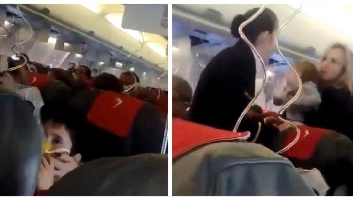 Panică într-un avion Blue Air. Au căzut măștile de oxigen. Aterizare de urgență