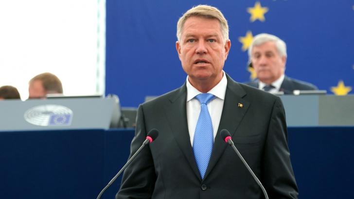 Klaus Iohannis, în Parlamentul European