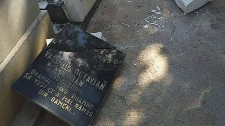 SCANDALOS: Mormântul unui mare cântăreţ din România a fost vandalizat