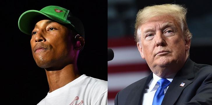 Pharrell îl ameninţă că-l dă în judecată pe Donald Trump