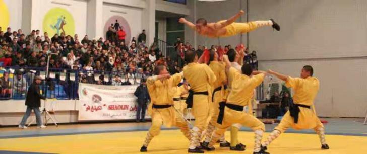 """Demonstratie de arte martiale Shaolin (""""Camasa de fier"""")"""