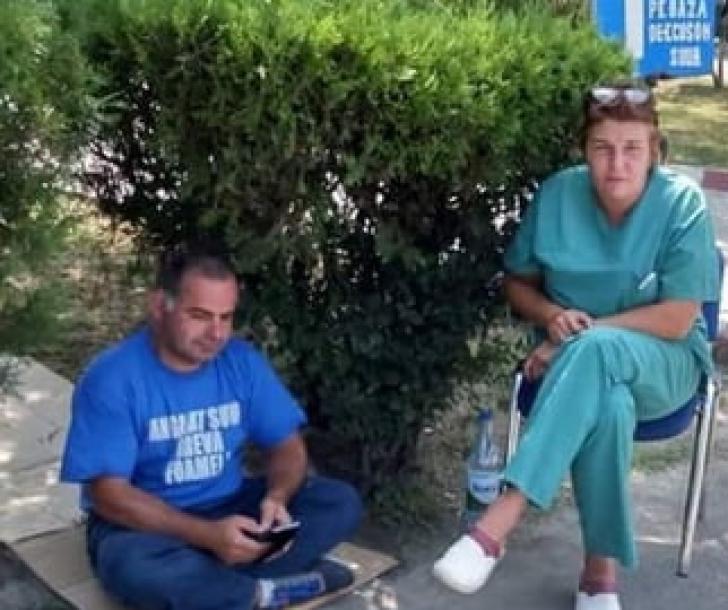 Asistenta de la Spitalul Universitar care făcea greva foamei a fost concediată