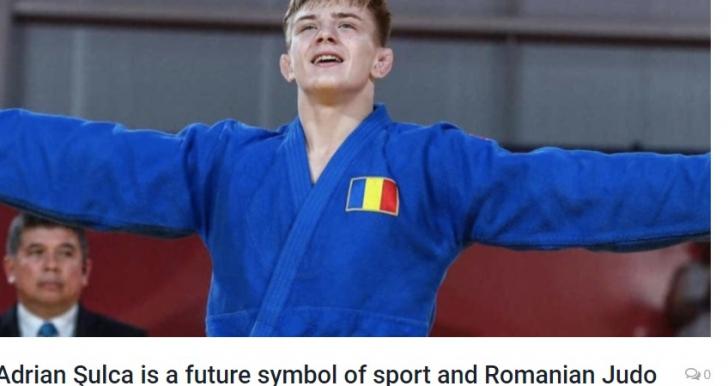 Judoka Adrian Şulcă, văzut în presa americană drept un viitor simbol al sportului