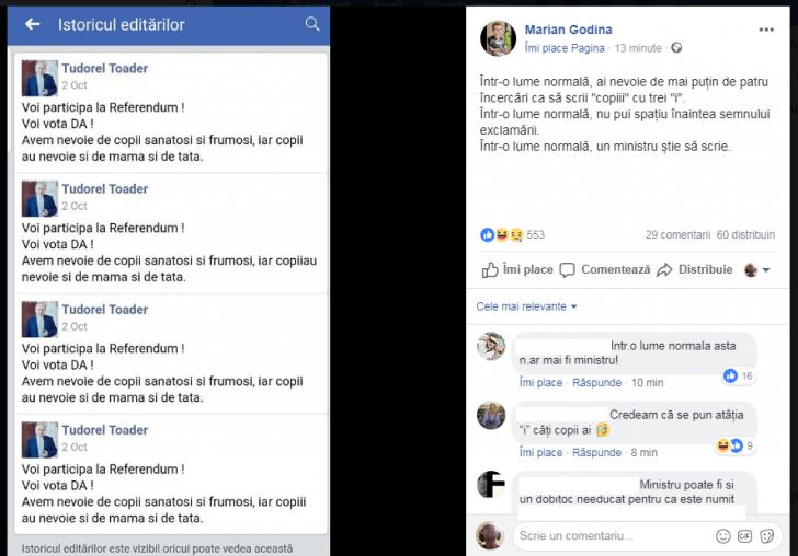 """Tudorel Toader, ironizat """"într-o lume normală"""" de Marian Godină"""