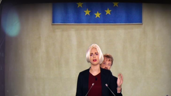 Dăncilă şi Dragnea, porumbiţa şi scamatorul, într-o satiră  a postului TV ARTE