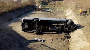 Mureş: Accident grav cu un microbuz. Sunt 10 victime
