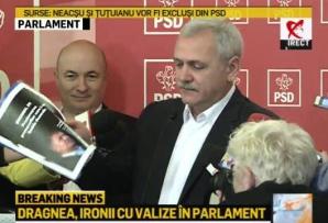 """Dragnea a venit cu valiza cu """"dosarele lui Iohannis"""""""