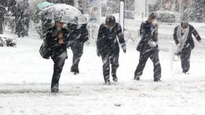 A venit iarna! Au căzut primele ninsori şi temperaturile au scăzut mult sub zero grade