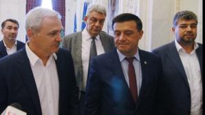 Liviu Dragnea, alături de Bădălău și alți lideri PSD