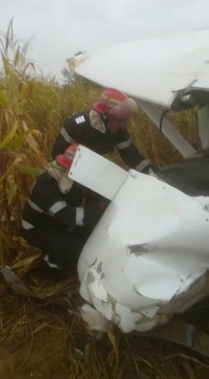 Avion prăbuşit în Argeş / Foto: ISU Argeş
