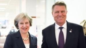Klaus Iohannis se va întâlni astăzi, la Londra, cu premierul Theresa May