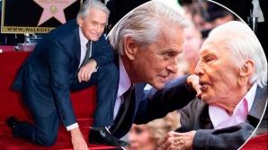 Michael Douglas, alături de tatăl său. Celebrul actor, cu lacrimi în ochi