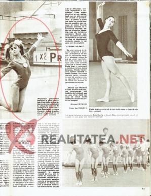 """Cel de-al doilea material cu Nadia Comaneci aparut in revista Sport (noiembrie 1972). Din nou, eroare de nume: """"Comanici"""". Arhiva: Cristian Otopeanu"""