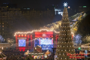 S-au aprins luminile în Bucureşti, start oficial pentru sărbătorile de iarnă. Imagini spectaculoase / Foto: Facebook Primaria Municipiului Bucuresti