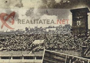 Stadionul Rapid / Stadionul Giulesti in 1947. Arhiva: Cristian Otopeanu