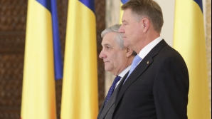 Presedintele Iohannis, împreună cu Antonio Tajani, preș Parlamentului European
