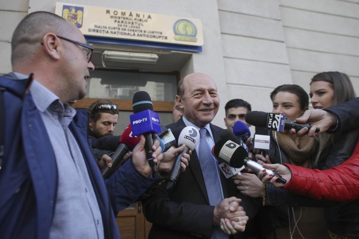 Traian Băsescu, audiat la DNA, pe tema campaniei din 2009 / Foto: Inquam Photos / Octav Ganea