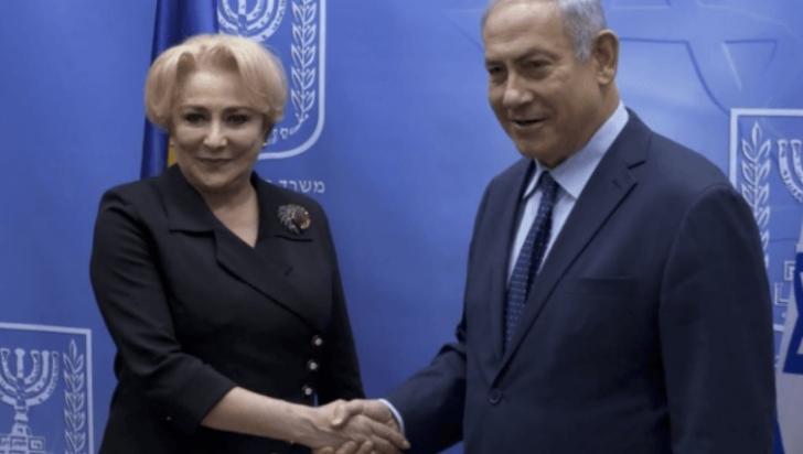 Viorica Dăncilă se întâlneşte, vineri, cu Netanyahu