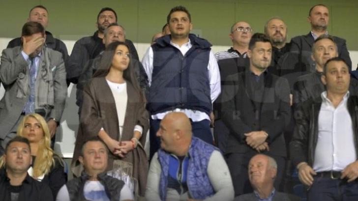 Vasile Dâncu, alături de Dragnea Jr.  în tribunele stadionului din Turnu Măgurele