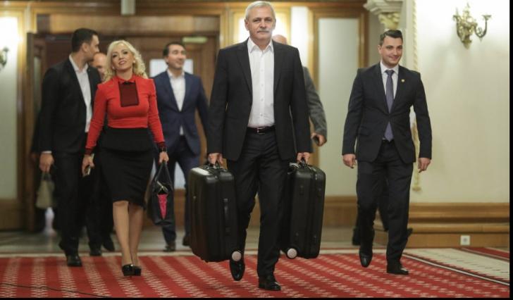 """Florin Călinescu, reacţie uluitoare după ce Dragnea a apărut """"remorcat"""" de două valize, la Parlament"""