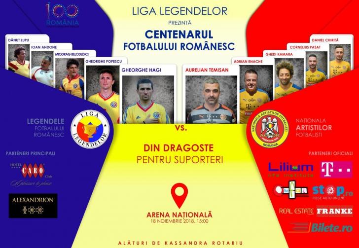 Centenarul Fotbalului Românesc, pe Arena Naţională