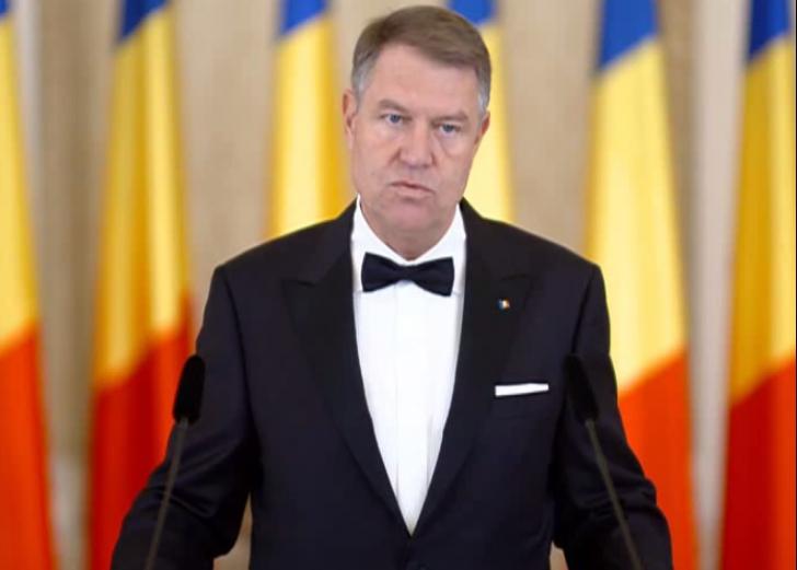 Klaus Iohannis, discurs la recepția de la Cotroceni