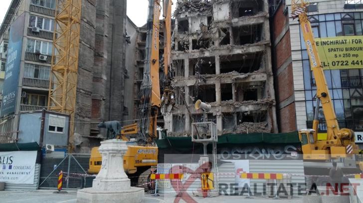 Demolare magazin Bucuresti. Foto: Cristian Otopeanu